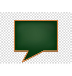 blank speech bubbles as a school blackboard vector image