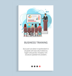 business training people discussion report vector image