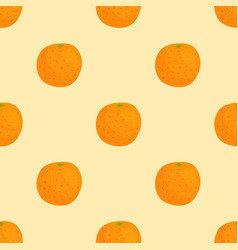 cartoon freshorange fruits in flat style seamless vector image