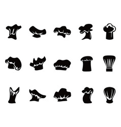 Chef hats icon set vector