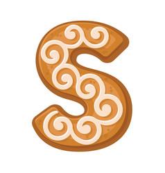 Cookies in shape letter s vector