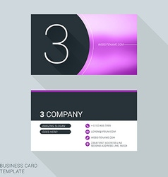 Creative business card template number three flat vector