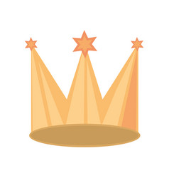 Crown party isolated icon vector