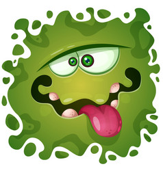 Cute funny crazy monster character helloween vector