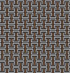 Dark geometric maze seamless pattern vector