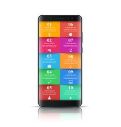 digital gadget smartphone icon business vector image