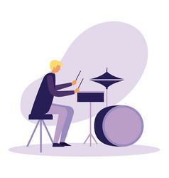 drummer musician man orchestra instrument vector image