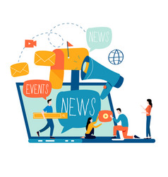 E-mail news subscription promotion vector