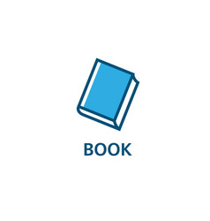 education book logo vector image