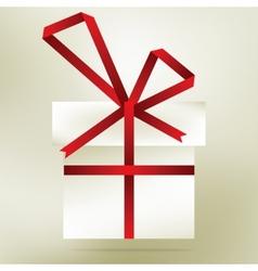 Elegant christmas gift made from stripe EPS8 vector image