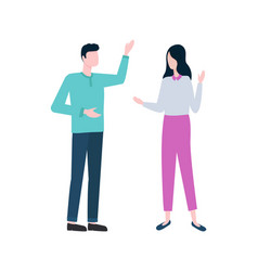 Entrepreneurs discussing business isolated icon vector