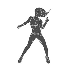 fitness instructor young woman zumba dancer vector image
