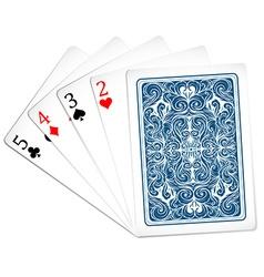 Five poker cards together vector
