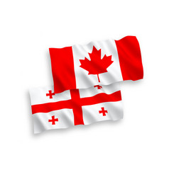 Flags canada and georgia on a white background vector