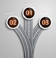 Fork in the road vector