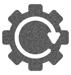 Gear Rotation Direction Grainy Texture Icon vector image