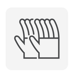 glove icon black vector image
