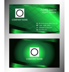Green modern business card template vector
