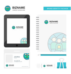 group avatar business logo tab app diary pvc vector image