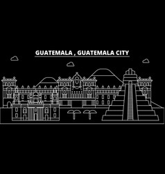 Guatemala silhouette skyline city vector