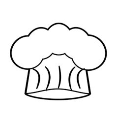 hat chef cook restaurant icon outline vector image