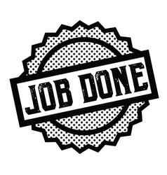 Job done stamp on white vector
