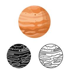 Jupiter and nasa icon web vector