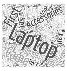 Laptop accessories Word Cloud Concept vector
