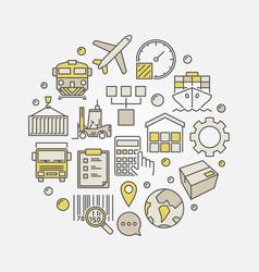 Logistics circular vector
