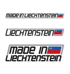 Made in liechtenstein vector