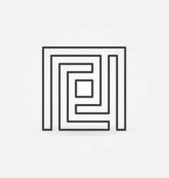 maze simple icon vector image