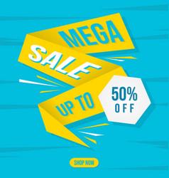 Mega sale banner for element design vector