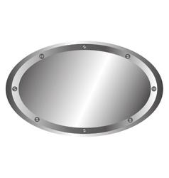 metallic emblem isolated icon vector image