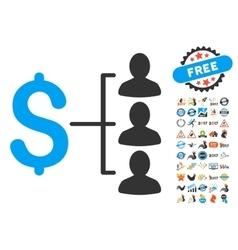 Money Recipients Icon With 2017 Year Bonus vector image