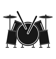 musical drums icon simple style vector image