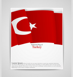 national flag brochure of turkey vector image vector image