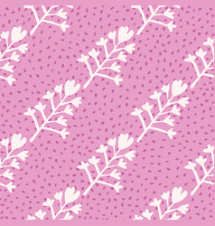 Natural seamless pattern with floral ornament vector