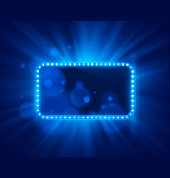 neon frame light color blue vector image