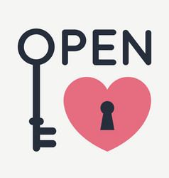 open heart vector image
