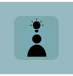 Pale blue idea icon 1 vector