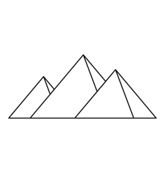 Pyramids of Egypt icon simple style vector image