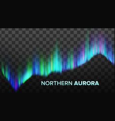 Realistic composition northern aurora vector