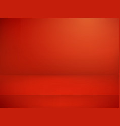 red illuminated stage advertising template vector image