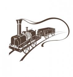 Retro train vector