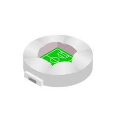 Round stadium with canopi icon vector