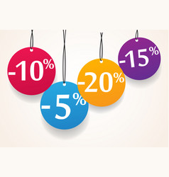 sale discount tags vector image