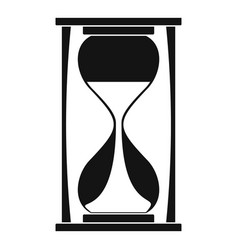 sand clock icon simple style vector image