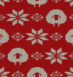 Scandinavian seamless knitted pattern vector