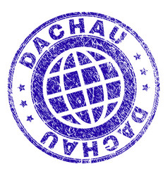 Scratched textured dachau stamp seal vector