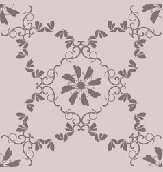 Seamless pattern hearts and birds vector